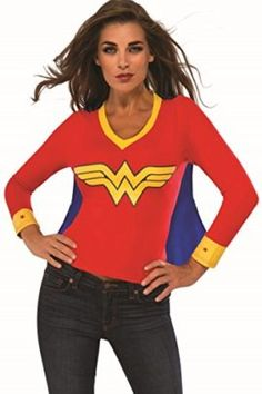 Rubies Costume Co Womens DC Superheroes Wonder Woman Sporty Tee I want to be wonder woman for halloween she is incredible! #DCcomics #wonderwoman #halloween #halloween2017 #superhero