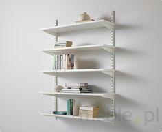 Zestaw: Regał z półkami pełnymi do kuchni Classic kolor Biały, Elfa - Akcesoria