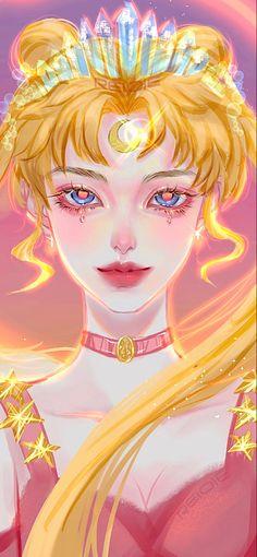 Cool Anime Girl, Anime Art Girl, Anime Girls, Character Art, Character Design, Sailor Moon Wallpaper, Princess Serenity, Animes Yandere, Art Corner