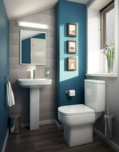 Bathroom Decor Modern - Small Bathroom Ideas On A Low Budget; Bathroom Vanities High Quality beside Small And Functional Bathroom Design Ideas Modern Bathroom Design, Small Bathroom Designs, Bath Design, Modern Toilet Design, Small Bathroom Interior, Parisian Bathroom, Modern Small Bathrooms, Small Bathroom Colors, Small Bathroom Tiles