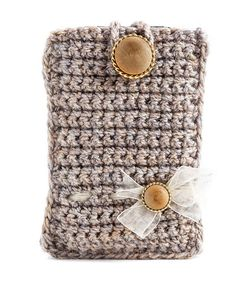 Crochet Phone Pouch Phone Cover Crochet Phone Case Cotton Phone by GabrielleJustine, - Crochet Phone Cover, Crochet Case, Quick Crochet, Love Crochet, Crochet Gifts, Learn To Crochet, Beautiful Crochet, Crochet Flower, Crochet Designs