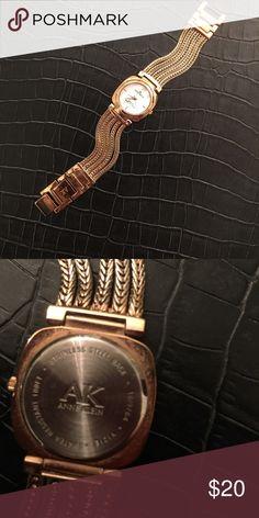 Anne Klein watch Anne Klein watch - rose gold color - small diamond at 12:00 - lovely! Anne Klein Accessories Watches