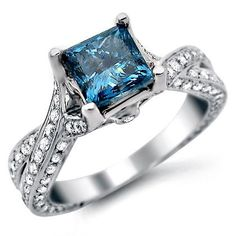 blue diamond engagement rings has a wonderful selection of blue rings including blue diamond rings and blue gemstone rings. Fancy blue diamond engagement rings, my lovely blue diamond engagement rings princess cut, diamond engagement rings Jewelry Stores Near Me, Bridal Rings, Wedding Rings, Wedding Stuff, Cartier, Diamond Jewelry, Diamond Rings, Gemstone Rings, Diamonds
