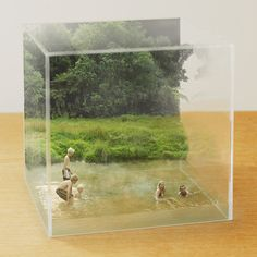 3D photos ...look so real....like the Edo style 3D drawing 「立版古 (Tatebanko)