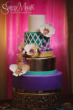 Orchid Wedding Cake Princess Jasmine Bride Aladdin Sassy Mouth Photography Photo CT Series