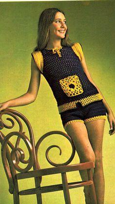 Vintage 1970s Knitting Crochet pattern by allthepreciousthings