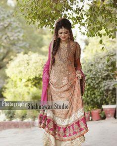Beautiful bride shining in Aisha imran's gorgeous ensemble ...#pfw16 #adnanansari #BombayStores #bridals