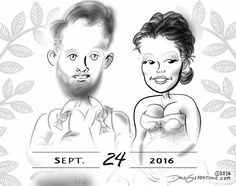 See the Barn Wedding #caricatures I drew in Pennsylvania. https://facebook.com/caricature.artist.nyc