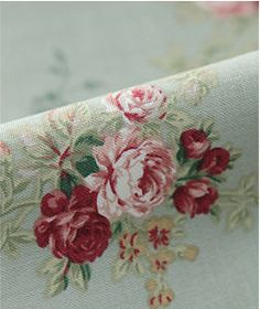 Cotton Fabric Romantic Roses in Mint 1 Yard 20024 by landofoh, $10.60
