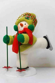 Muñeco de nieve esquiador