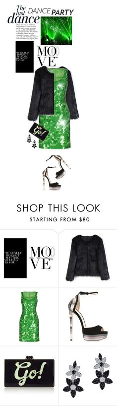 """""""Dance Party!"""" by shortyluv718 ❤ liked on Polyvore featuring Anja, Chicwish, Moschino Cheap & Chic, Jimmy Choo, Edie Parker, Lafonn and danceparty"""