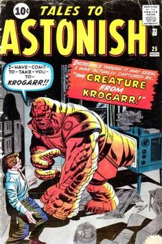 Jack Kirby -- KROGARR, Ben Grimm before there was a FF............ .