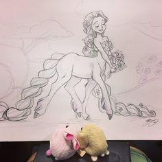 Arte Disney, Disney Art, Disney Rapunzel, Cool Art Drawings, Art Drawings Sketches, Dessin My Little Pony, Kindergarten Art Projects, Illustration Art, Illustrations