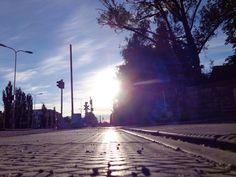 Setting midnight sun in Vaasa, Finland