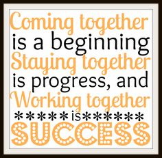 "This week's free team building poster is a quote from Henry Ford, and will give your office a much-needed burst of colour in the winter months. ""Coming together is a beginning, staying together is ..."