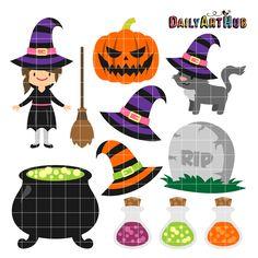 FREE Halloween Witch Set Clip Art Set | Daily Art Hub