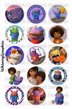 Home Boov Oh Pig Tip Dreamworks movie inspired digital bottle cap images 1 inch round by WhimsyGraphix on Etsy