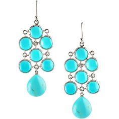 Elizabeth Showers Turquoise Chandelier Earrings