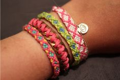 Our Evil Eye Charm Bracelet goes perfectly with @Gracia Gomez-Cortazar DIY friendship bracelets
