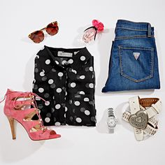 Get the perfect fun and flirty look with this month's #DesignerPicks! #GUESS