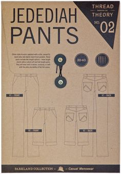 Thread Theory Men's Jedediah Pants - Paper Pattern