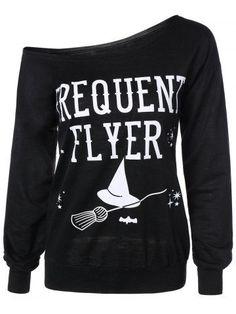 GET $50 NOW | Join RoseGal: Get YOUR $50 NOW!http://m.rosegal.com/sweatshirts-hoodies/letter-skew-neck-sweatshirt-730420.html?seid=6983281rg730420