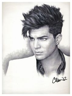 Adam Lambert Drawing (#2) by ~Live4ArtInLA