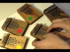 5 note chordal kalimba, for group playing