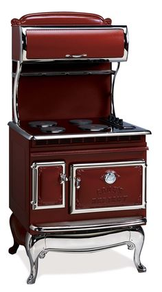 IN RED!!!!!    ANTIQUE : Ranges : 1850 All-Electric Range, Red