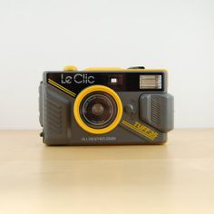 Vintage Le Clic Tuff 35 Camera Waterproof 35mm by MetalAndTweed, $34.00 #leclic #yellow #80s #1980s