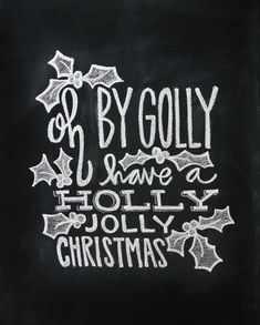Christmas Hand Lettered Chalkboard Art Art Print by Jessica Garvin - X-Small Chalkboard Print, Chalkboard Lettering, Chalkboard Designs, Chalkboard Ideas, Chalkboard Art Quotes, Kitchen Chalkboard, Christmas Signs, Christmas Art, Christmas Decorations