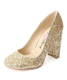 df5181952ab Penny Loves Kenny Gold Glitter Ritz Pump