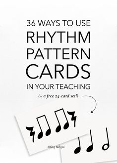 36 Ways to Use Rhythm Pattern Cards in Your Teaching Piano Teaching, Teaching Tips, Teaching Art, Learning Piano, Music Theory Worksheets, Singing Lessons, Singing Tips, Learn Singing, Rhythm Games