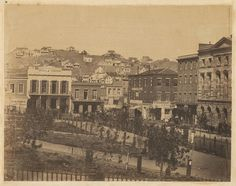 San Francisco, 1856. Photo by unknown. View from the Plaza.