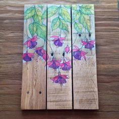 RedeemWood recycled wood art canvas painting by https://www.facebook.com/thedaydreamerie