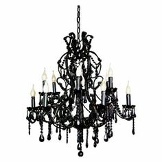 I have an unexplainable thing for black chandeliers. Ohsoadorable.