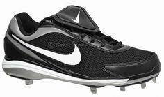 New Nike Air Zoom Coop V Mens Baseball Cleats w/ Metal Studs, Black White Silver.  http://www.gearhouseclearance.com