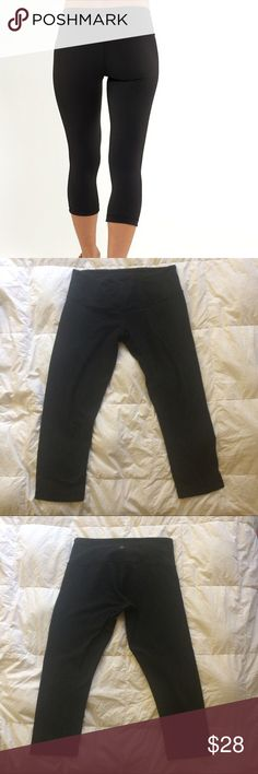 Lululemon Capris Really loved Lulus WITH PLENTY OF LIFE LEFT. These have only 1 rip way smaller than a dime please see photos is in the from left leg. Price reflects item. lululemon athletica Pants Track Pants & Joggers