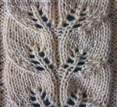 Drawn work lace knitting stitch. Link contains chart.