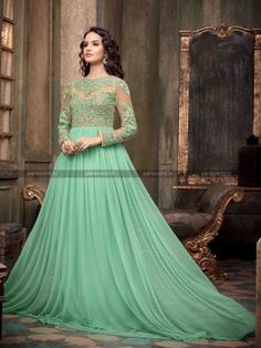 Aqua Net Glorious Anarkali Salwar Kameez Eid Special anarkali salwar kameez at parisworld.in