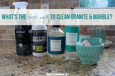 Clean your granite and marble countertops with the best products out there. Safe and effective!