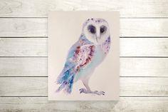 Original owl painting-uil schilderij uilen kunst-owl