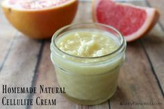 This is the Best Cellulite Cream and you can make it at home! Natural products and essential oils make it easy to smooth your skin!