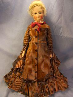 "Beautiful 17"" Antique French Repro Bru Smiler Fashion Doll No Damage | eBay"