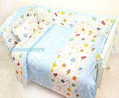 Fish Theme Crib Bedding | Baby Bedding Crib Cot Bumpers Quilt Sheet Set - Underwater Fish
