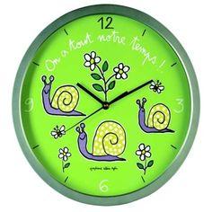 """Horloge """"On a tout notre temps !"""""""