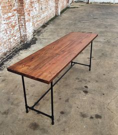 reclaimed wood and industrial pipe H base desk by sunscout on Etsy
