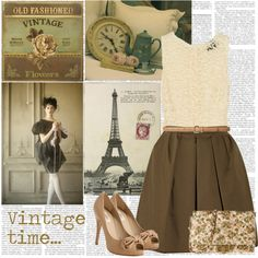"""Vintage time..."" by marianna-vintage on Polyvore"