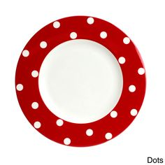 Red Vanilla Freshness Red Dinner Plate (Set of 6)   Overstock™ Shopping - Great Deals on Red Vanilla Plates