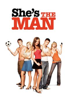 She's the Man - A 2006 American romantic comedy film directed by Andy Fickman, inspired by William Shakespeare's play Twelfth Night. The film stars Amanda Bynes, Channing Tatum, Laura Ramsey, and Vinnie Jones. Man Movies, Funny Movies, Great Movies, Awesome Movies, See Movie, Movie List, Film Music Books, Music Tv, Movies Showing